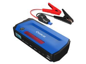 iDeaPLAY J18 12V 800A Peak Car Jump Starter Portable Power Bank mini Emergency booster Car Battery Car Charger - Blue Color