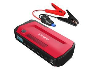 iDeaPLAY J18 12V 800A Peak Multi-Function Car Jump Starter Battery Charger Power Bank Booster - Red Color