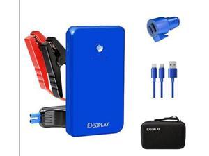 iDeaPLAY Vehicle Jump Starter Portable Power + 3-in-1 Car Charger Emergency Tool - Blue