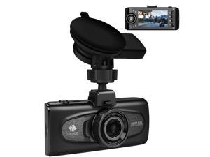 "Z-EDGE F1 Car DVR 2.7"" LCD Uber Dual Dash Cam with GPS 1080P Full HD Front and Inside Car Camera 150° Wide Angle View, Infrared Night Vision, G-Sensor, Support max 256GB TF Card"