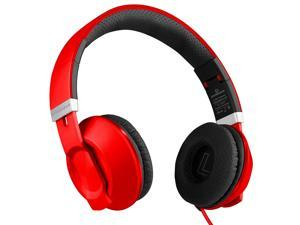 HyperGear V30 Headphones with Microphone 3.5mm - Red