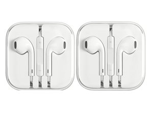 iPhone Earphones for iPhone 6 5 4S w/ Remote & Mic - 2 Pack
