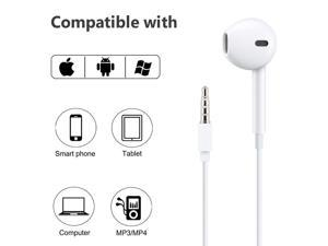 Oem Headphones, Earpods, Headset with Remote & Mic, Stereo Sound - 2 Pack - White