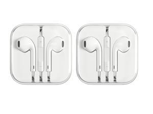 Apple Earpods 3.5 mm Adapter with Remote and Microphone 2 Pack in Bulk Packaging