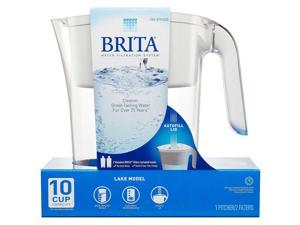 Brita Water Filtration System Lake Model 10 Cup Capacity Includes 2 Filter