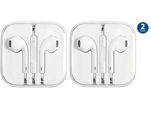 iPhone Earphone-Earbuds w/ Remote & Mic, Stereo Sound for Apple  iPhone 6, 5, 4S- 2 Pack