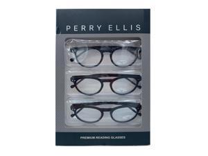 8d357b5bfb Perry Ellis Mens 3 Multi Pack Plastic Reading Glasses +2.5 Black ...