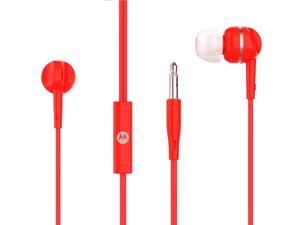 Motorola Pace 105 In-Ear Stereo Sound Headphones with Microphone - Red