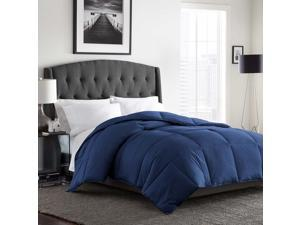 Bloomingdale's My Signature Down Alternative 300 Thread Count Twin Comforter Marine Blue