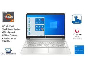"HP 15.6"" HD Touch Screen Notebook,AMD RYZEN 5 3500U Processor,16GB DDR4 RAM,256GB SSD,AMD Radeon Vega 8 Graphics,HD Webcam,Wifi, Bluetooth,HDMI, USB,Windows 10 Pro"