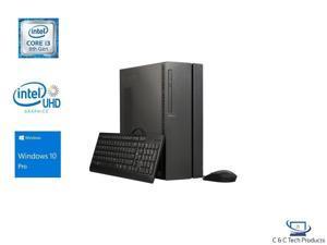 Lenovo IdeaCentre 510A Desktop, 8th Gen Intel Core i3-8100 Processor, 16GB DDR4 RAM, 512GB SSD Plus 1TB HDD,Intel HD Graphics 630,DVD-RW,Wifi-AC,BlueTooth 4.1,USB,HDMI,Windows 10 Pro