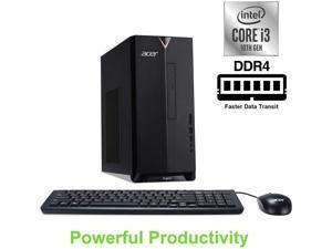 Acer Aspire TC Desktop,10th Gen Intel Core i3-10100 Processor,16GB RAM,512GB SSD,Intel UHD Graphics 630,DVD-RW,Wifi-AX,Bluetooth 5.0,Dual Monitor Capable,Windows 10 Pro
