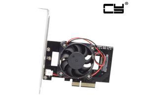 CHENYANG  PCI-E 3.0 x4 Lane Host Adapter Converter Card M.2 NGFF M Key SSD to Nvme PCI Express with Cooling Fan