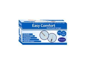 Home Aide EasyComfort Insulin Syringe 31G 1cc (1mL) 8mm (5/16 in) (100pcs)