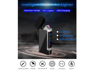 Usb Lighter Customized usb double arc lighter, charging personality, men's