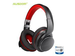 AUSDOM Bluetooth Headphones, Foldable Bluetooth 4.2 Over-Ear Wireless Headphones, Noise Isolating Stereo Headset Built-in Mic with Apt-X Low Latency, Fast Audio & Deep Bass & Hands-Free Calling, Soft