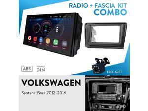 "UGAR EX6 7"" Android 6.0 Car Stereo Radio Plus 11-392 Fascia Kit Compatible with Volkswagen Santana, Bora 2012-2016"