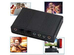for Laptop PC USB 5.1 Channel External Optical Audio Fiber Sound Card S/PDIF