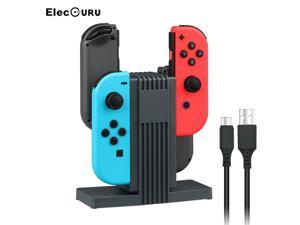 4 In 1 Charging Stand For Nintendo Switch Joy Con Controller LED Charging Dock Station Charger Cradle For Nintend Switch NS