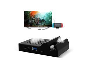 Portable Cooling Heat Dissipation Type C TV Dock Base Support 4K Video USB 3.0 HDMI Output Dock Station for Nintend Switch Host