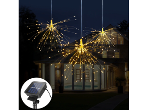 150 LED DIY Fireworks Solar String lights For Garden Decoration Bouquet LED String Christmas Festive Fairy lights Outdoor Solar lamps