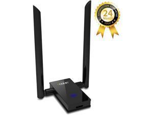 WiFi Adapter, USB 3.0 Wireless Adapter 802.11AC 1200Mbps Dual Band with 2.4G/5.8G 6DBI External Dual Antennas for PC Desktop Mac Windows