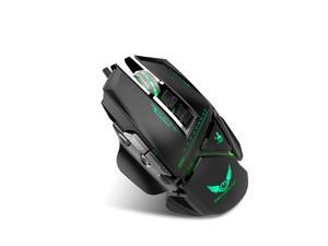 E-Sports Gaming Mouse 11-Key Game Colorful Macro Programming Mouse Freely Disassembled with A Variety of Grips Comfortable 3200dpi Adjustable (Black)