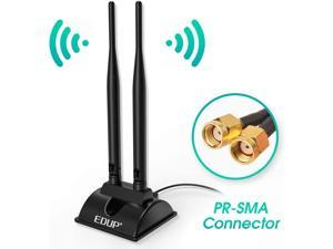 Dual Band WiFi Network Antenna 6dBi with RP-SMA Female Connector, AC 2.4GHz 5GHz Antennas with Magnetic Base Work with PCI-E Wi-Fi Network Card USB WiFi Adapter Wireless Router Extender IP Camera