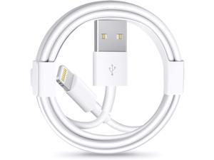 3Pack iPhone Charger Cable [Apple MFi Certified] Lightning to USB Cable Compatible with iPhone 11/Pro/X/Xs Max/XR/8 Plus /7 Plus/6/ iPad Pro/Air/Mini iPod White(1M/3.3FT)