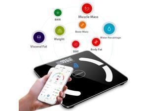 180kg/396lb Bluetooth Body Fat Weight Scale Digital Bathroom LCD Analyzer APP Android IOS