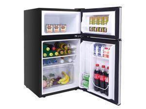 Stainless Steel Refrigerator Mini Freezer Cooler Fridge Compact 3.2cu.ft. 2Door