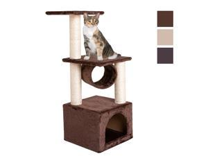 """Deluxe 36"""" Cat Tree Condo Play Toy Scratch Post Cat Pet Tree Furniture"""