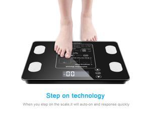 Leadzm Digital Body Fat Scale BMI Water Muscle Calorie Bone Weight 400lb 12Users