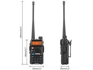 BAOFENG UV-5R ?? Tri-Band Two Way Ham Radio UHF VHF Walkie Talkie + Earpeice