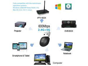 USB Wireless Adapter 600Mbps Realtek RTL8811AU Chipset Mini Type Dual Band  11AC Wifi Dongle IEEE 802 11 a/b/g/n/ac For Laptop Desktop IPTV USB 3 0