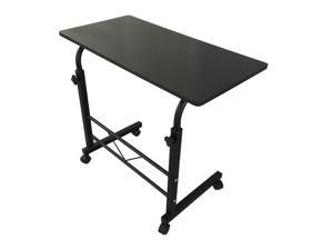 Adjustable Height Rolling Laptop Desk Over Bed Hospital Table Stand Tray Black