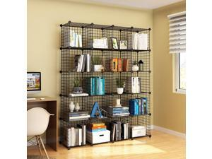 20 Cube Wire Grid Organizer Bookcase Storage Cabinet Wardrobe Closet USA