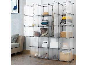 Home Use 20 Cube Organizer Stackable Plastic Cube Storage Shelves Rack White