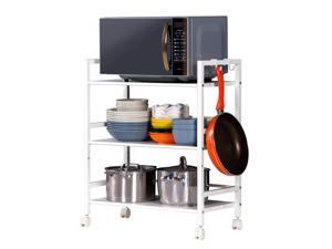 Shelving Rack Shelf Shelves Rolling Wheel Kitchen Storage Utility Cart Organizer
