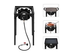 Zokop Portable Propane 75,000-BTU Single Burner Outdoor Camp Stove BBQ Grill US