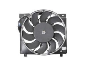 Dual Radiator and Condenser Fan Assembly - Cooling Direct Fit/For 52079444AB 95-96 Jeep Cherokee 6cylinder Inline