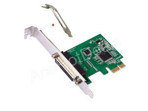 Parallel Port DB25 LPT Printer PCI-E Express Card Converter Adapter Low Profile