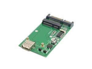 Combo mSATA Solid State Disk SSD to SATA 22p & USB 2.0 Hard Disk Case Enclosure