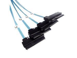 36 P Mini SAS SFF-8087 Host to 4 SFF-8482 Target SAS Hard Disk and SATA Cable