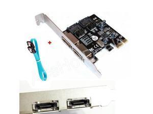 PCI-E Express SATA3 SATA3.0 6Gb/s eSATA SATA III Card w/ SATA3.0 Data Cable