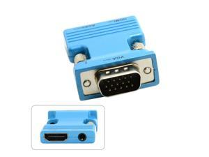 HDMI Female to VGA Male & Audio Output Adapter for Macbook Projector Monitor