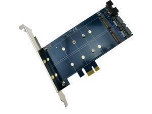 2 ports SATA 7Pin to NGFF M.2 Key B Adapter Card