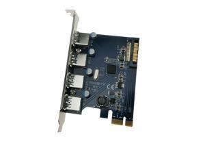 Fresco FL1100 4x USB 3.0 PCI Express Card PCI-e USB3.0 Host Controller Adapter