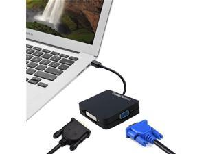CableDeconn Mini Displayport DP to HDMI VGA DVI Cable Adapter for MAC PC