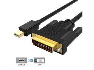 6FT Mini Display Port DP Thunderbolt to DVI Cable Adapter Connector For Apple PC